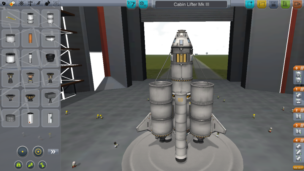 Orbital Lifter in the Vehicle Assembly Building